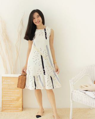 Abstract Pastel Dress - LovelyMadness Clothing Online Fashion Malaysia