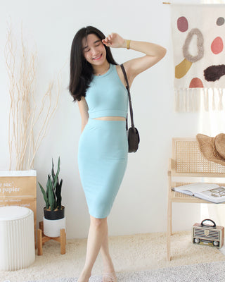 Knitted Split Dress - LovelyMadness Clothing Online Fashion Malaysia