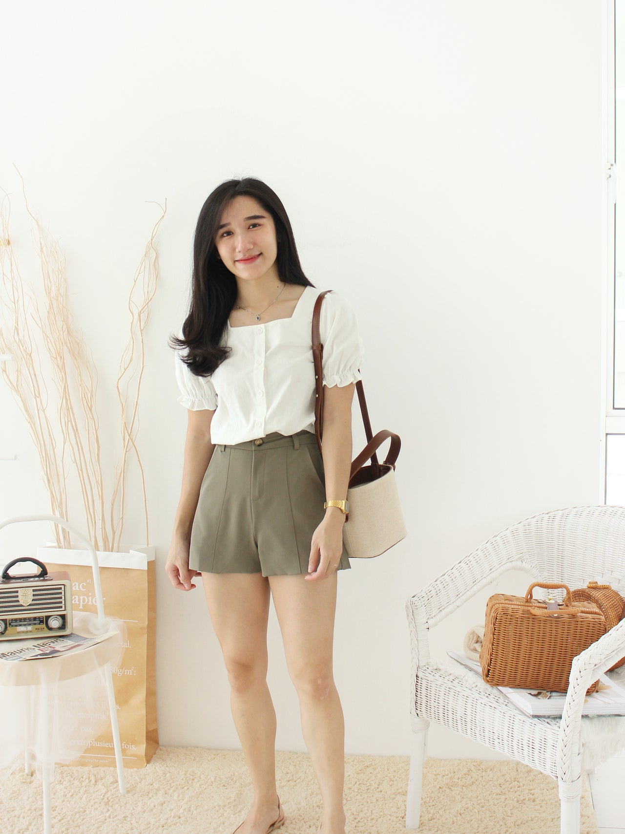 France Square Top - LovelyMadness Clothing Online Fashion Malaysia