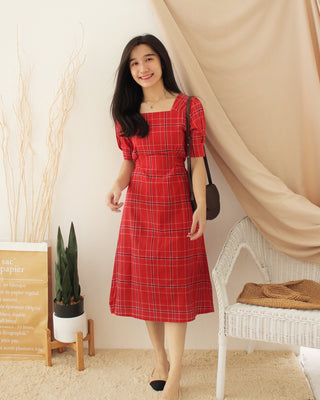 Korean LAUREN Plaid Dress