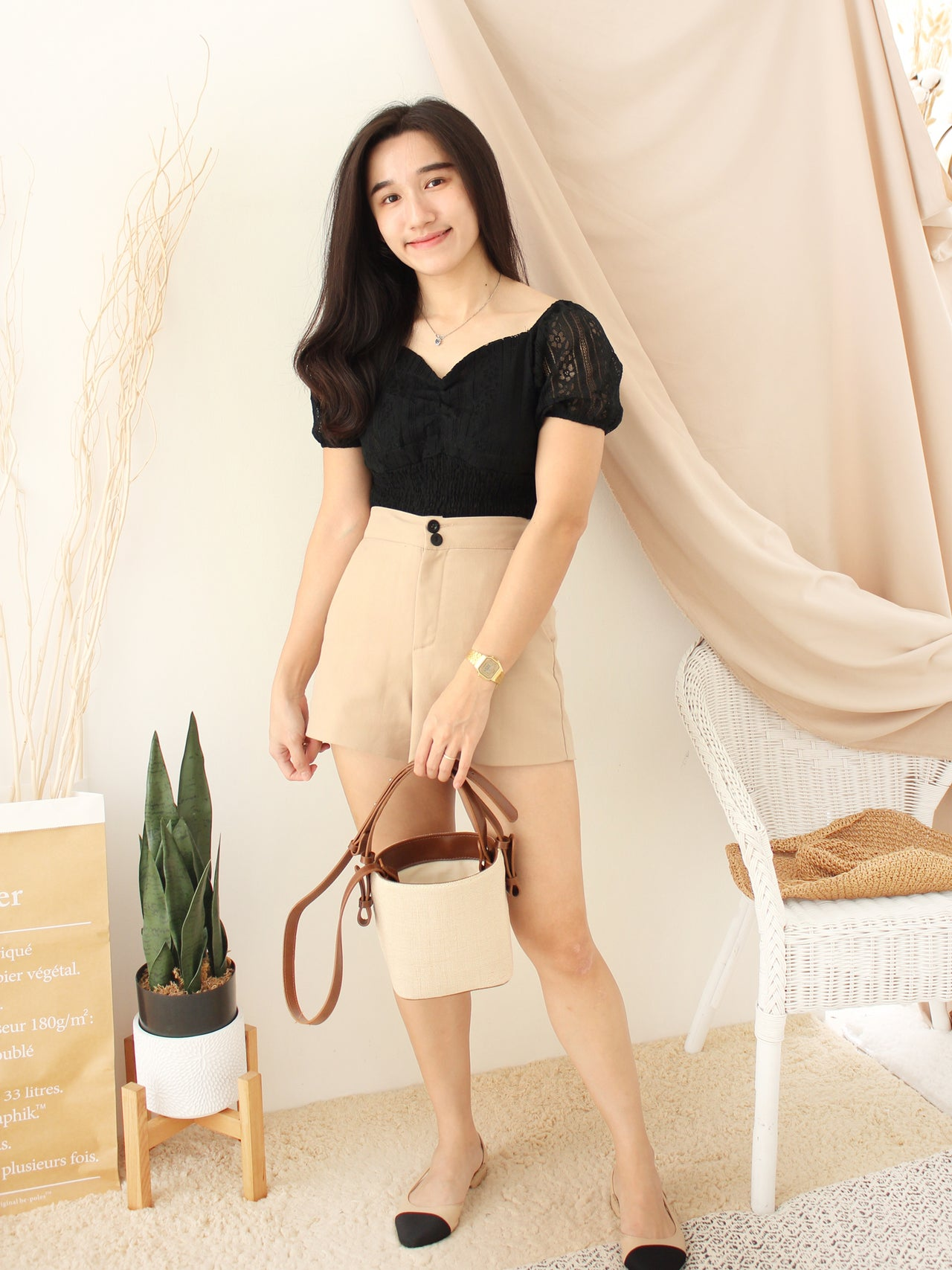 JULENE Lace Puffy Top