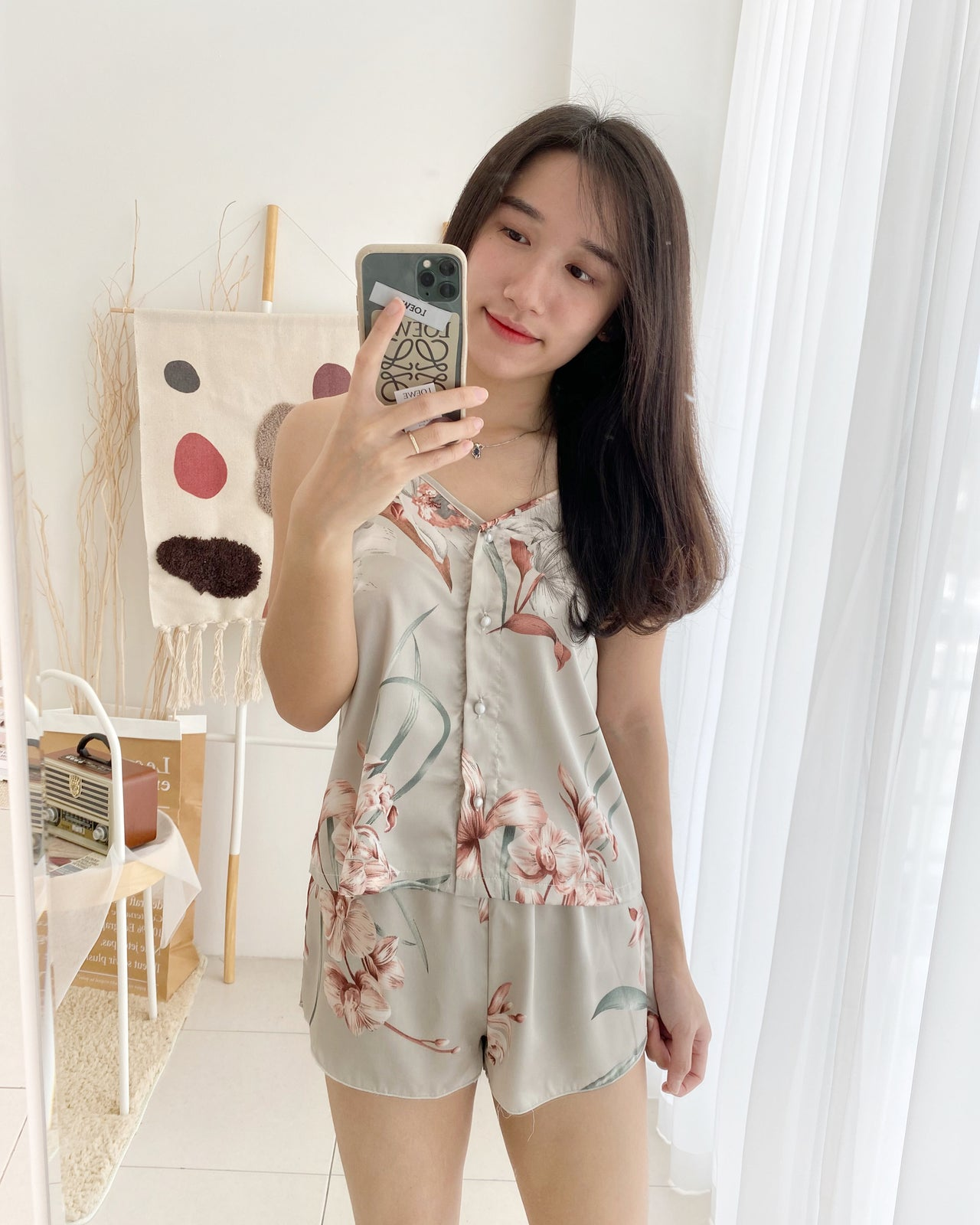 Floral Print Pyjamas - LovelyMadness Clothing Online Fashion Malaysia