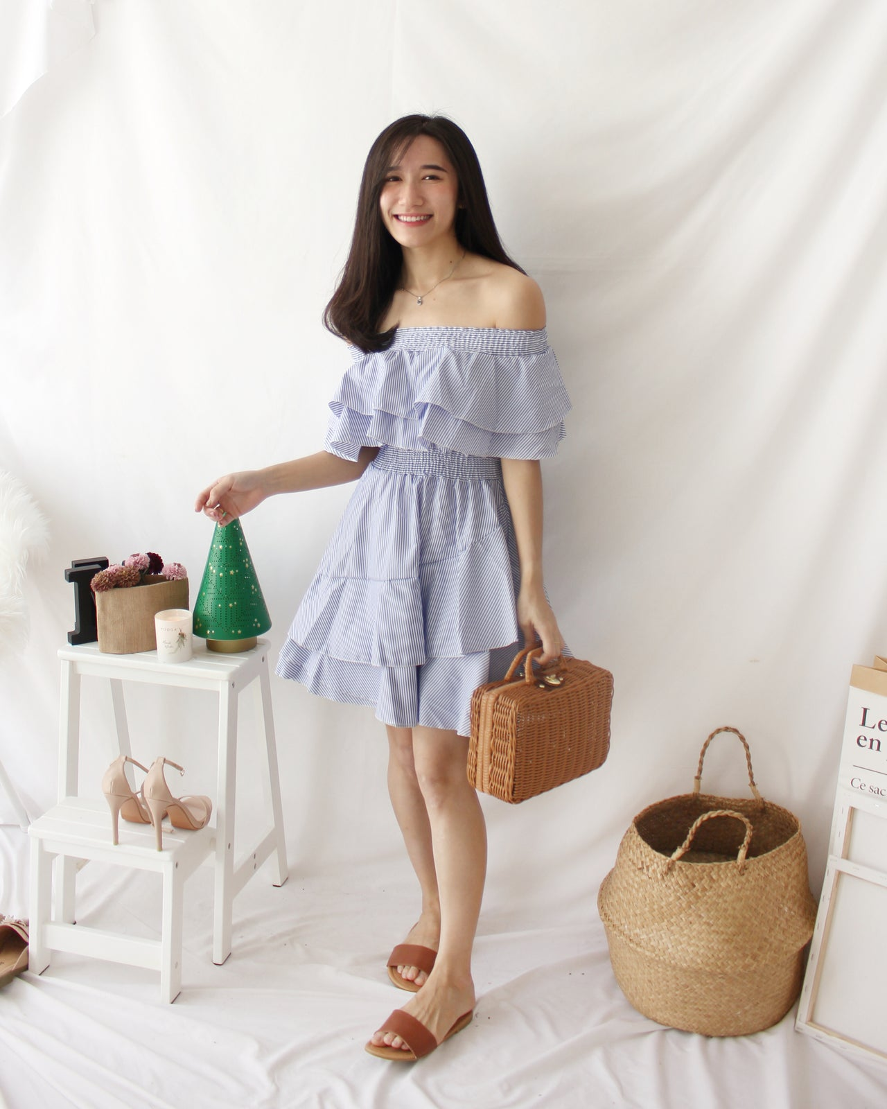 Tulips Layer Stripe Dress - LovelyMadness Clothing Online Fashion Malaysia