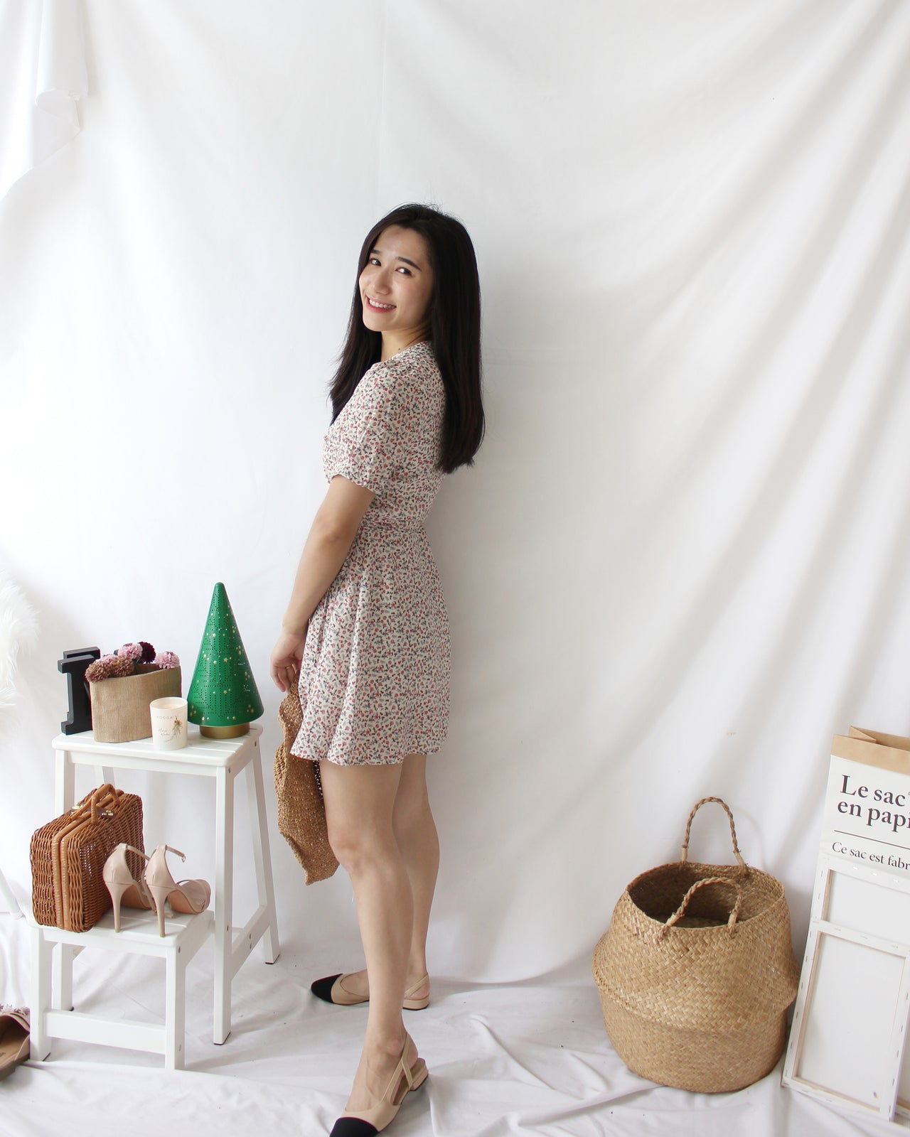 Korean Daisy Wrap Dress - LovelyMadness Clothing Online Fashion Malaysia