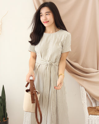 MOIBLE KOREA Stripe Dress