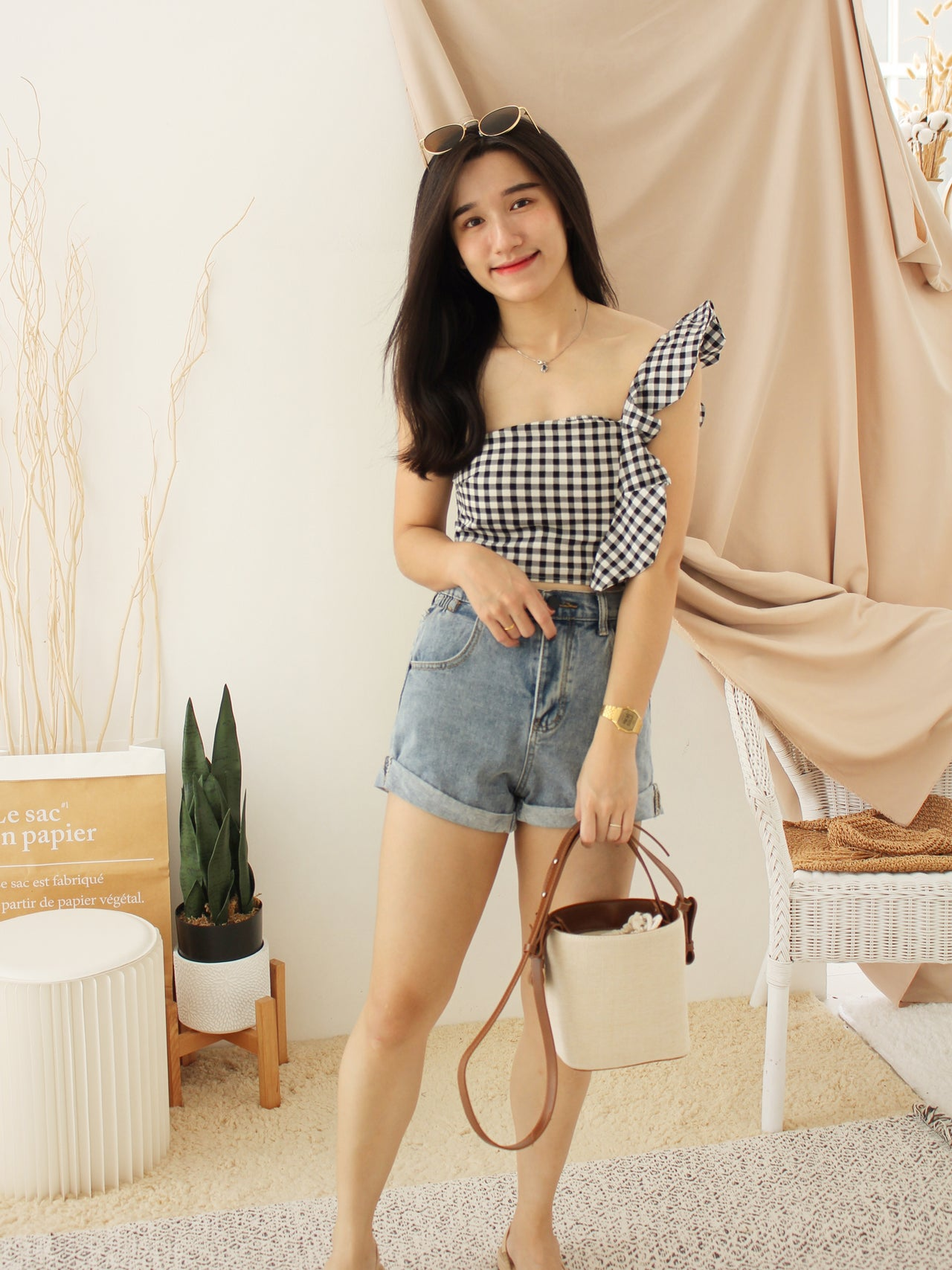 LOVEY Sheer Blouse - LovelyMadness Clothing Online Fashion Malaysia