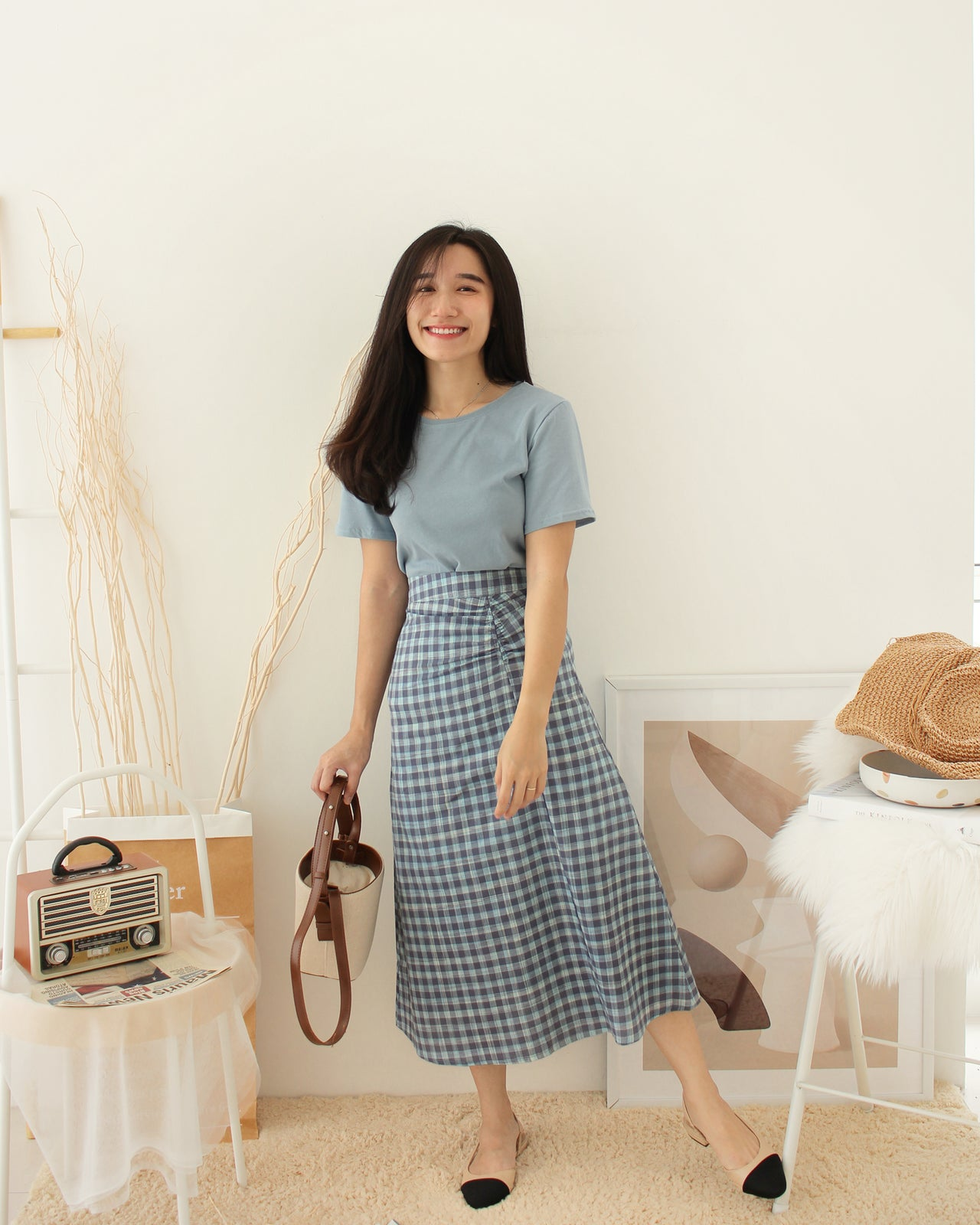 JAMIE Plaid Set - LovelyMadness Clothing Online Fashion Malaysia