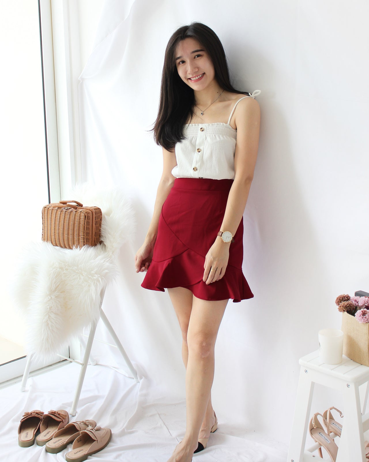 Ruffle Mermaid Skirt - LovelyMadness Clothing Online Fashion Malaysia