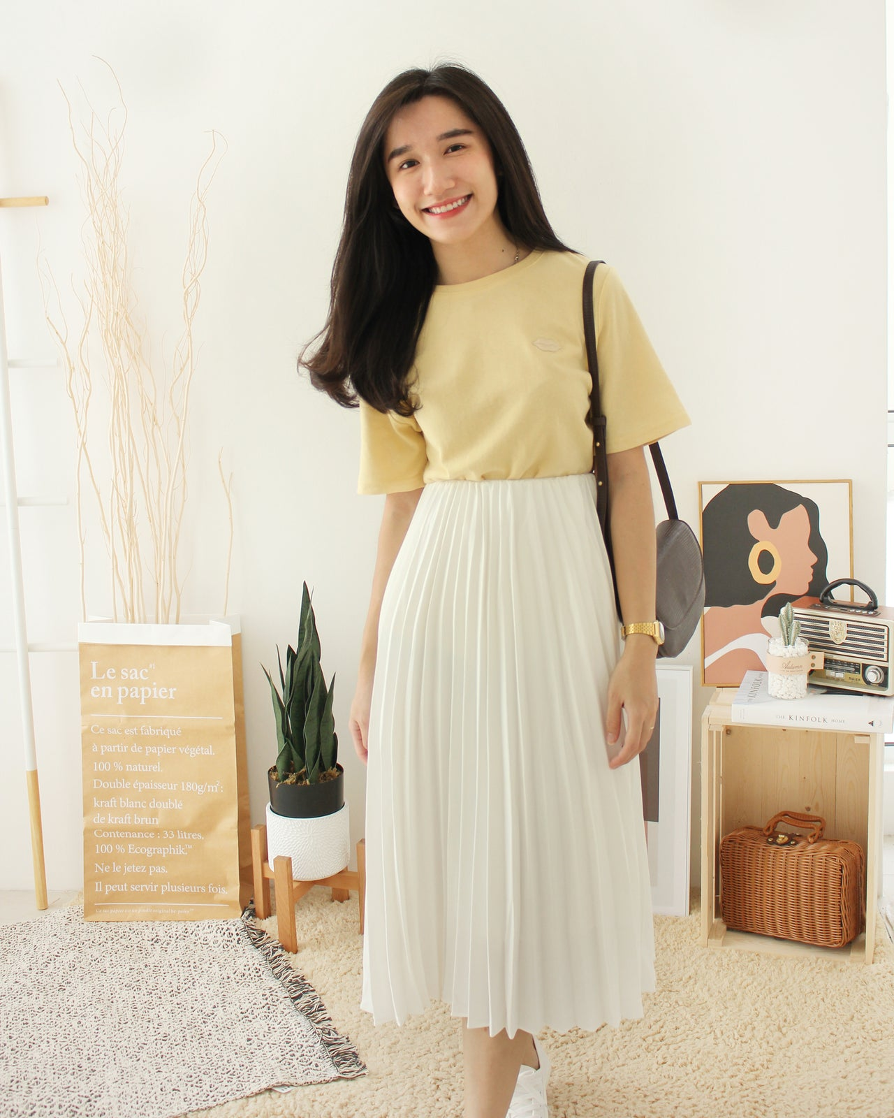 WHITE Pleated Dress - LovelyMadness Clothing Online Fashion Malaysia