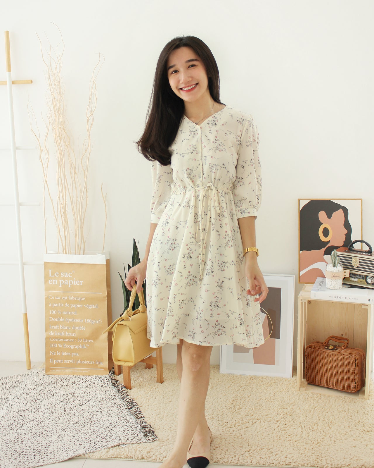 Tasha Floral Dress - LovelyMadness Clothing Online Fashion Malaysia