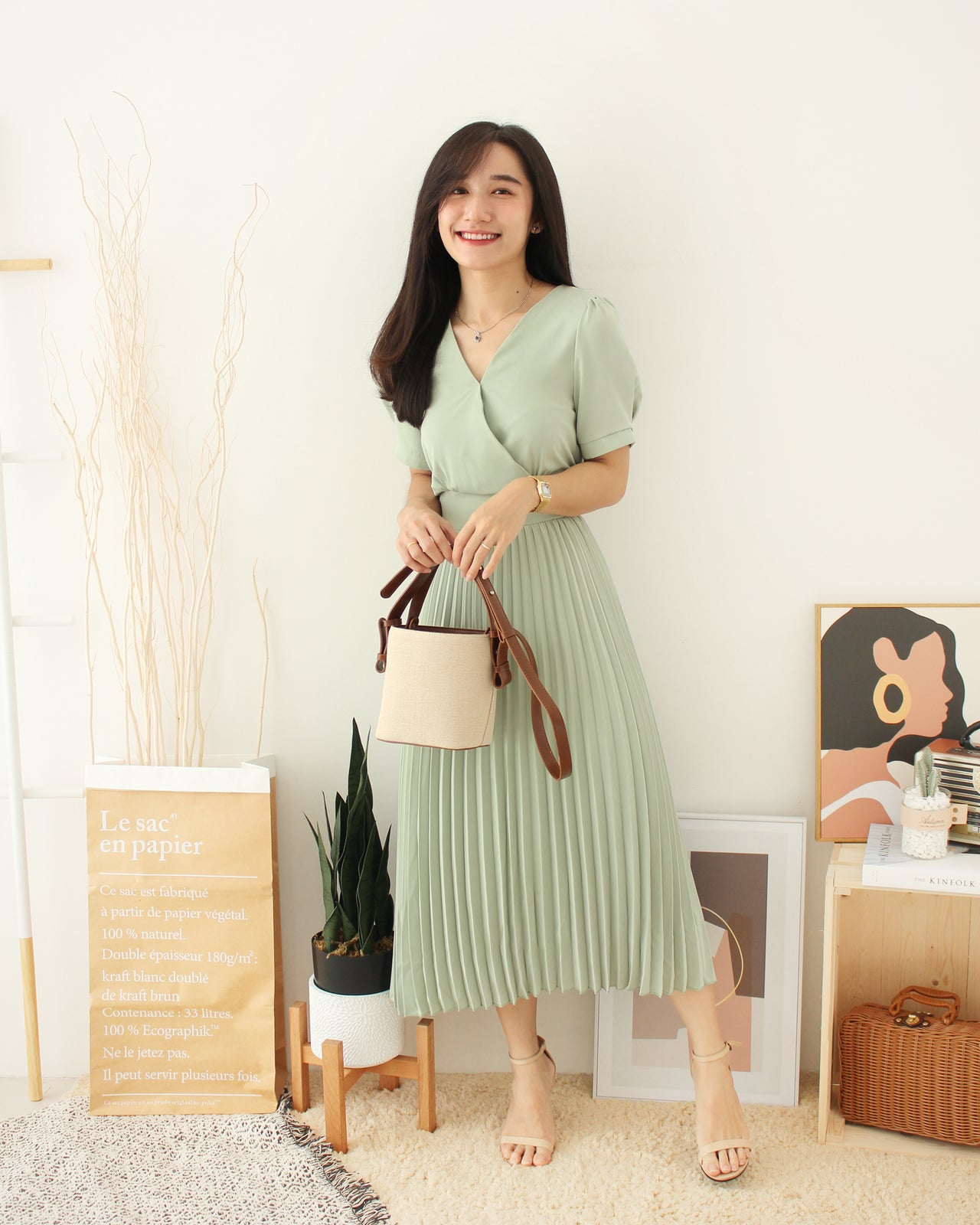 Korean Genevive Long Dress - LovelyMadness Clothing Online Fashion Malaysia