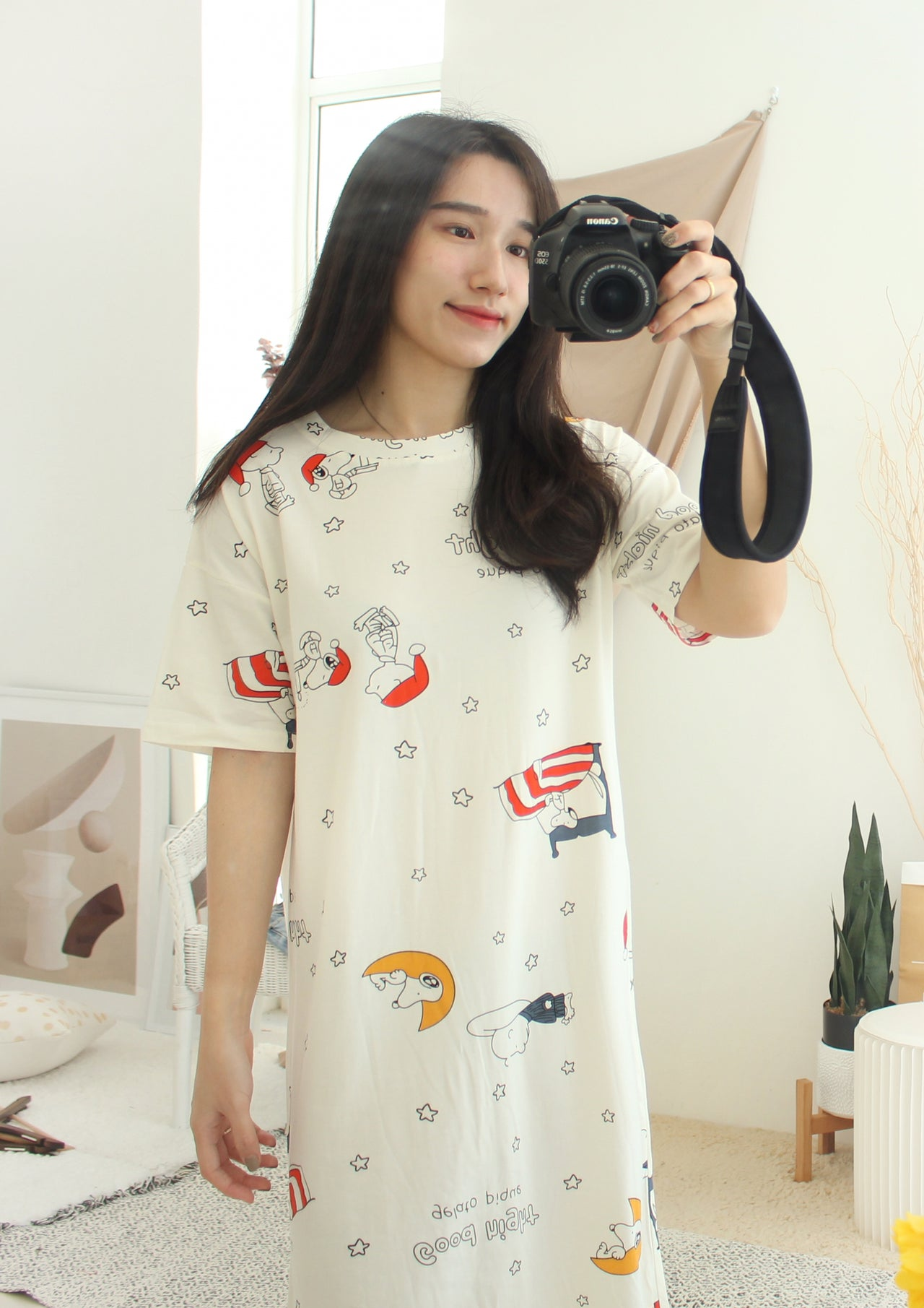 SNOOPY Pyjamas Dress