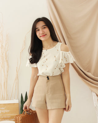 JAPAN FLORAL Ruffle Top