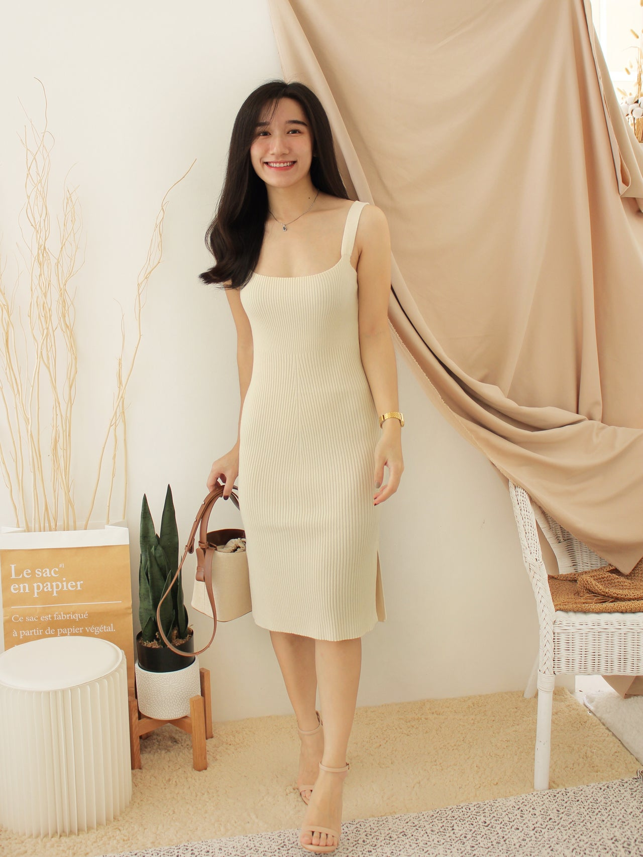 SIDE SPLIT Knit Dress