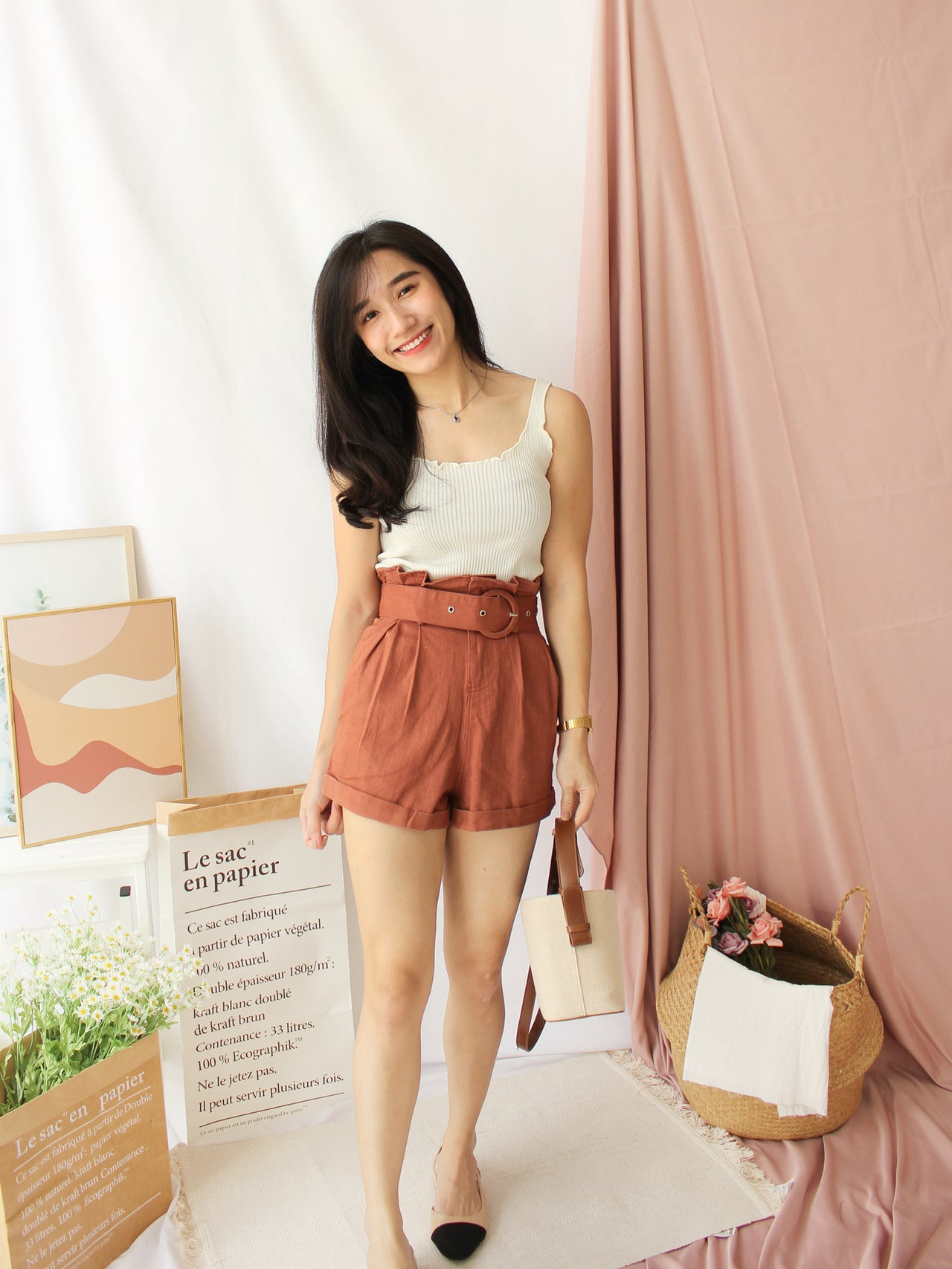 Ruffle Tank Top - LovelyMadness Clothing Online Fashion Malaysia