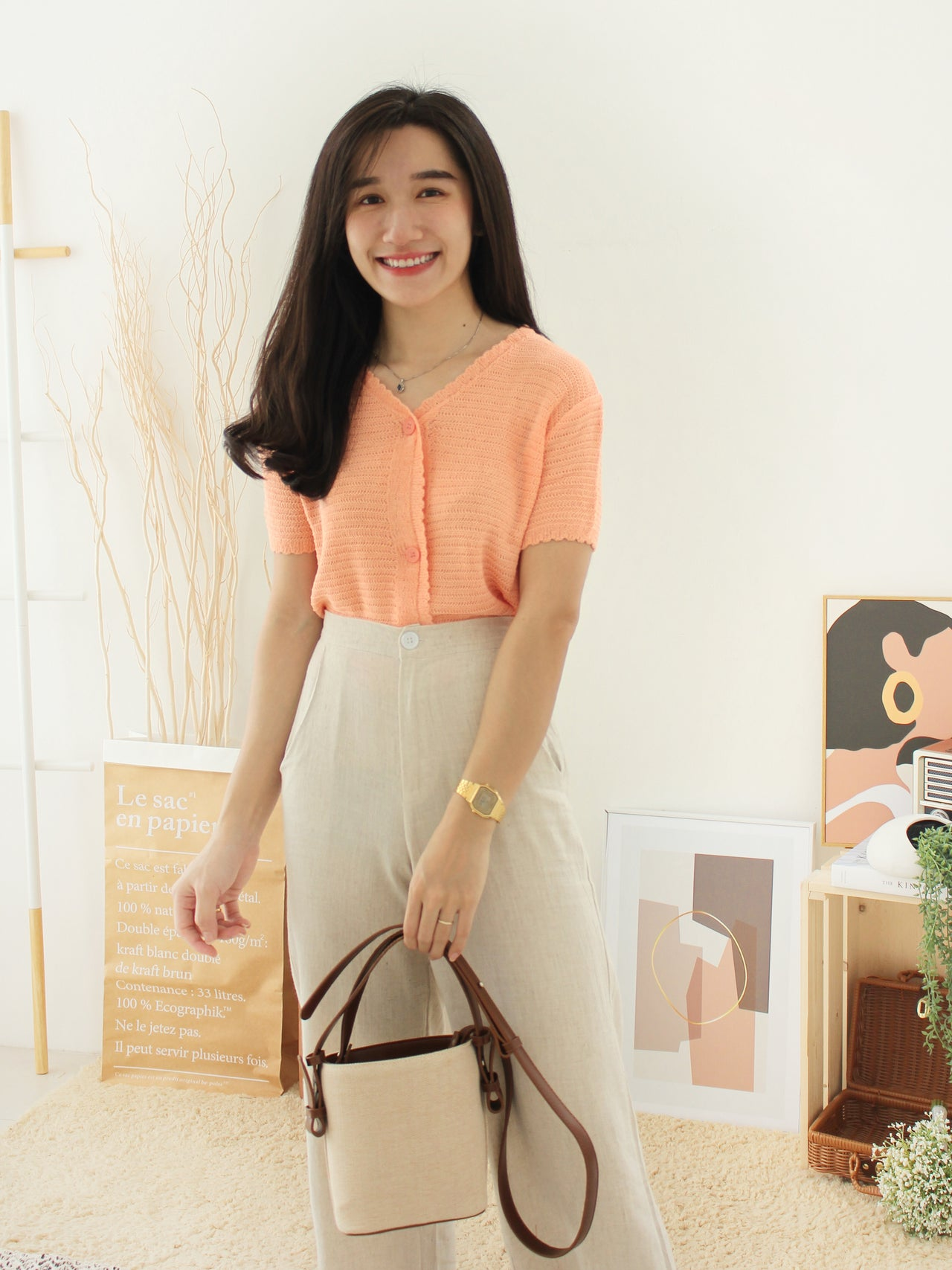 STACY Knitted Top - LovelyMadness Clothing Online Fashion Malaysia