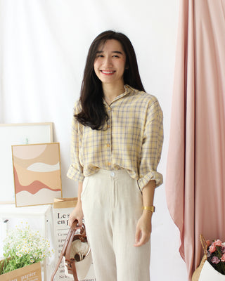 ADONIA PLAID Blouse - LovelyMadness Clothing Online Fashion Malaysia