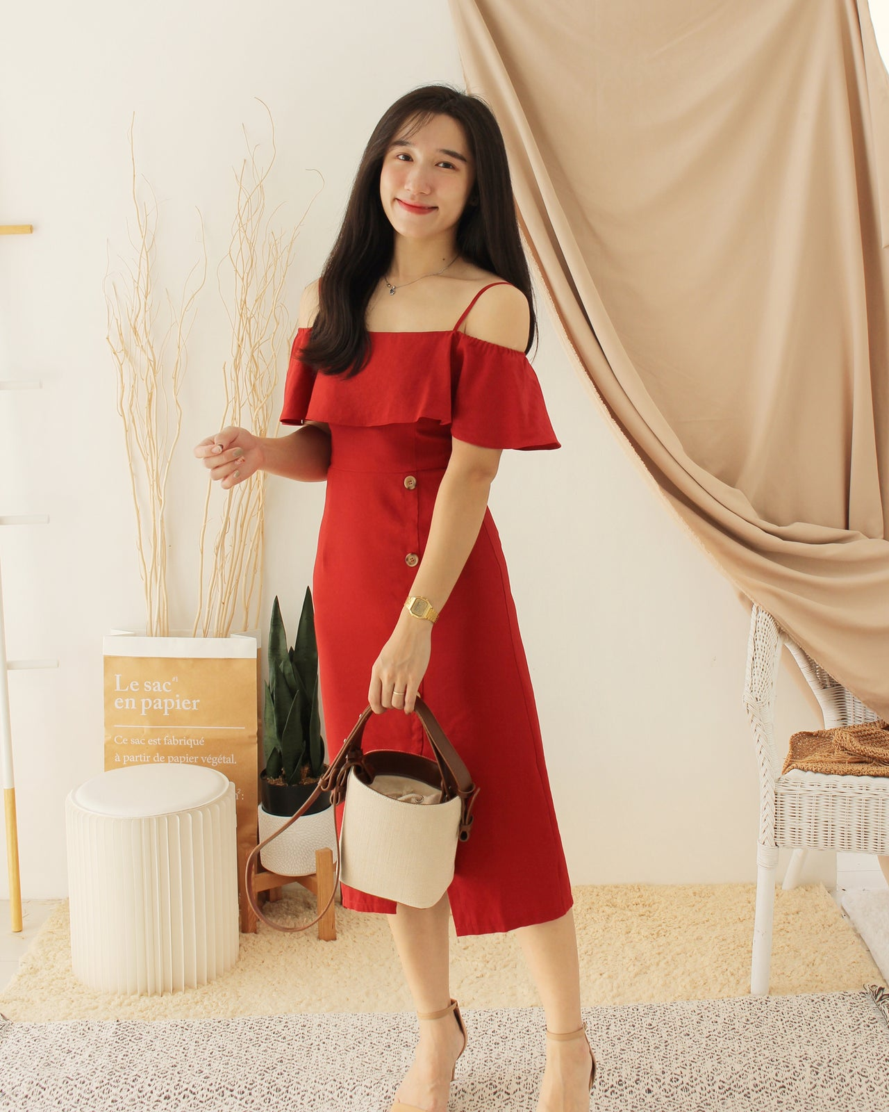 ELOWEN Ruffle Dress