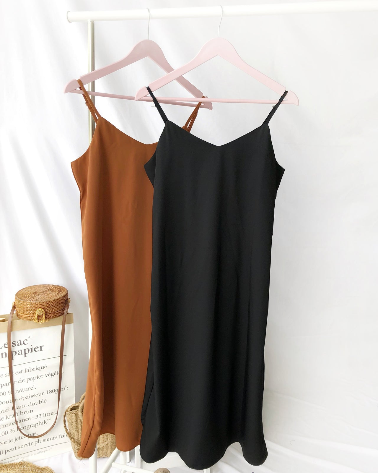 Minimal Spaghetti Dress - LovelyMadness Clothing Online Fashion Malaysia