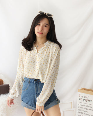 Korean Floral Blouse - LovelyMadness Clothing Online Fashion Malaysia