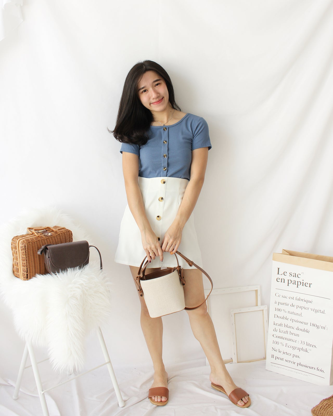 Rib Square Neck - LovelyMadness Clothing Online Fashion Malaysia