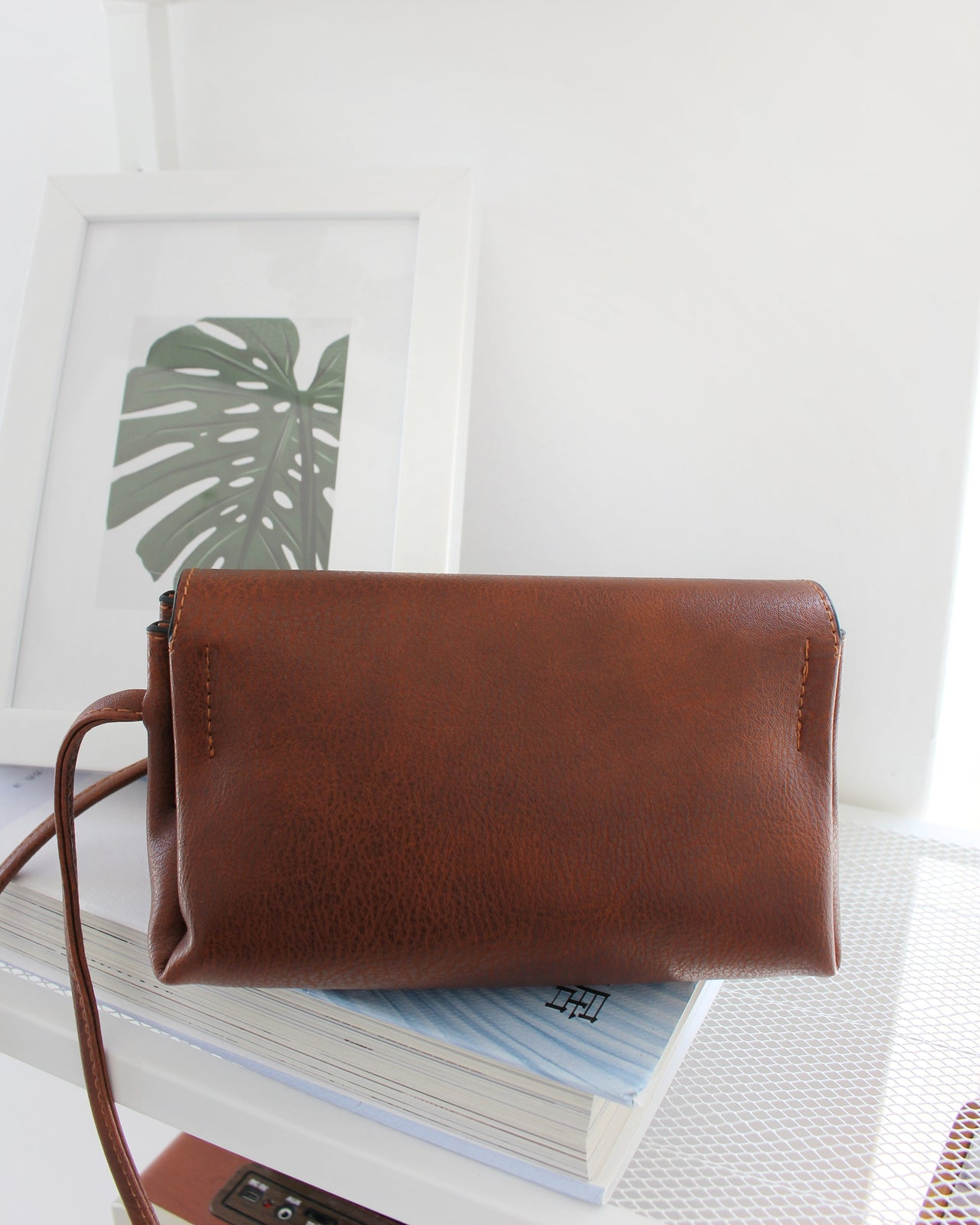 Brown Leather Sling Bag - LovelyMadness Clothing Online Fashion Malaysia
