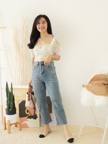 Eyelet Lacey Top