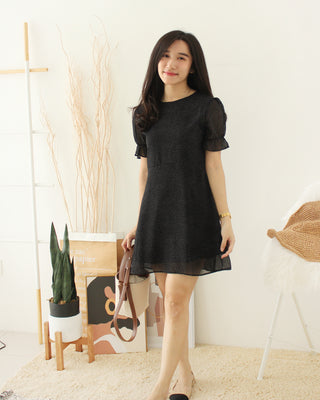 Button Puffy Dress - LovelyMadness Clothing Online Fashion Malaysia
