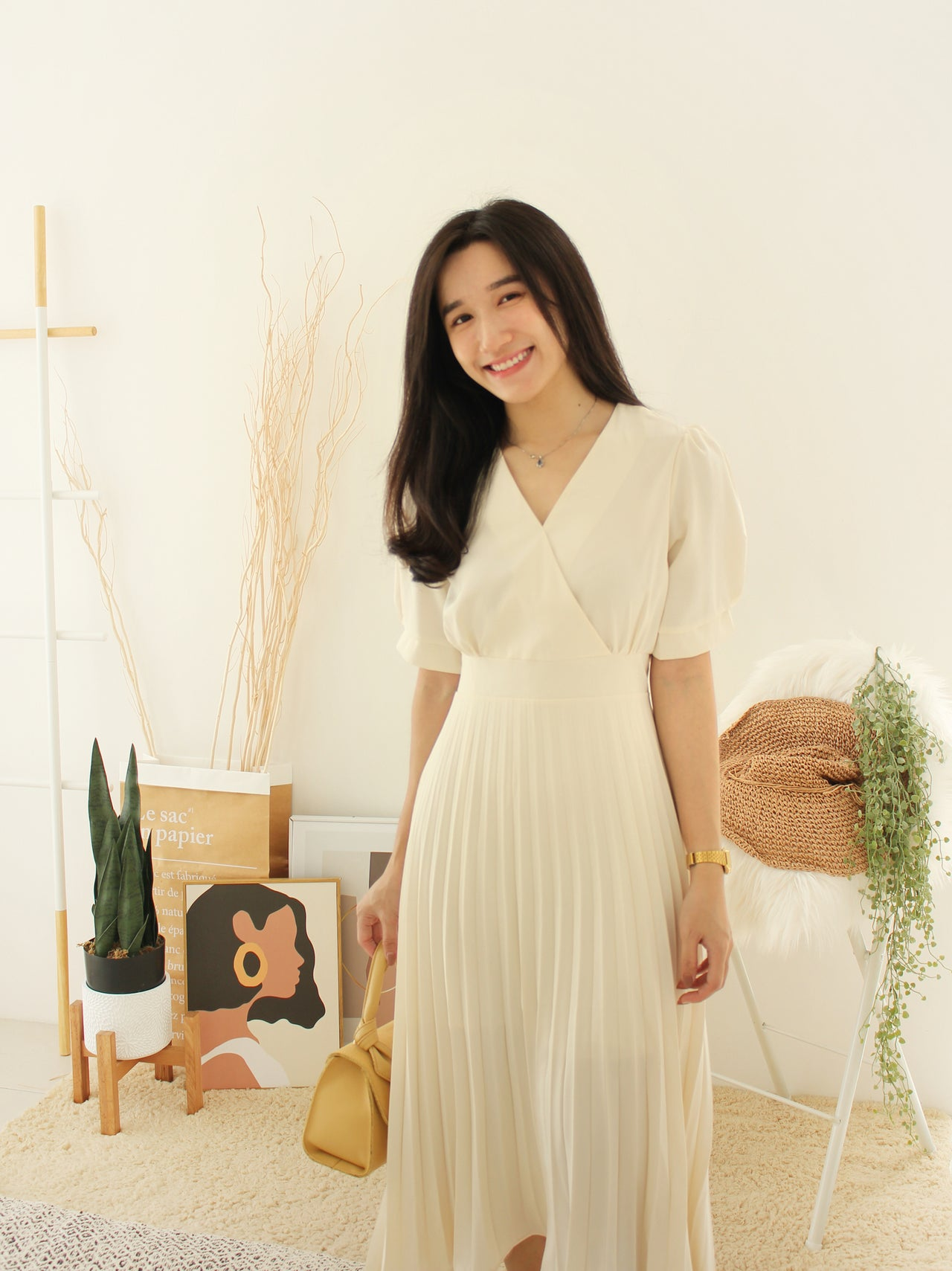 Korean Genevive Long Dress
