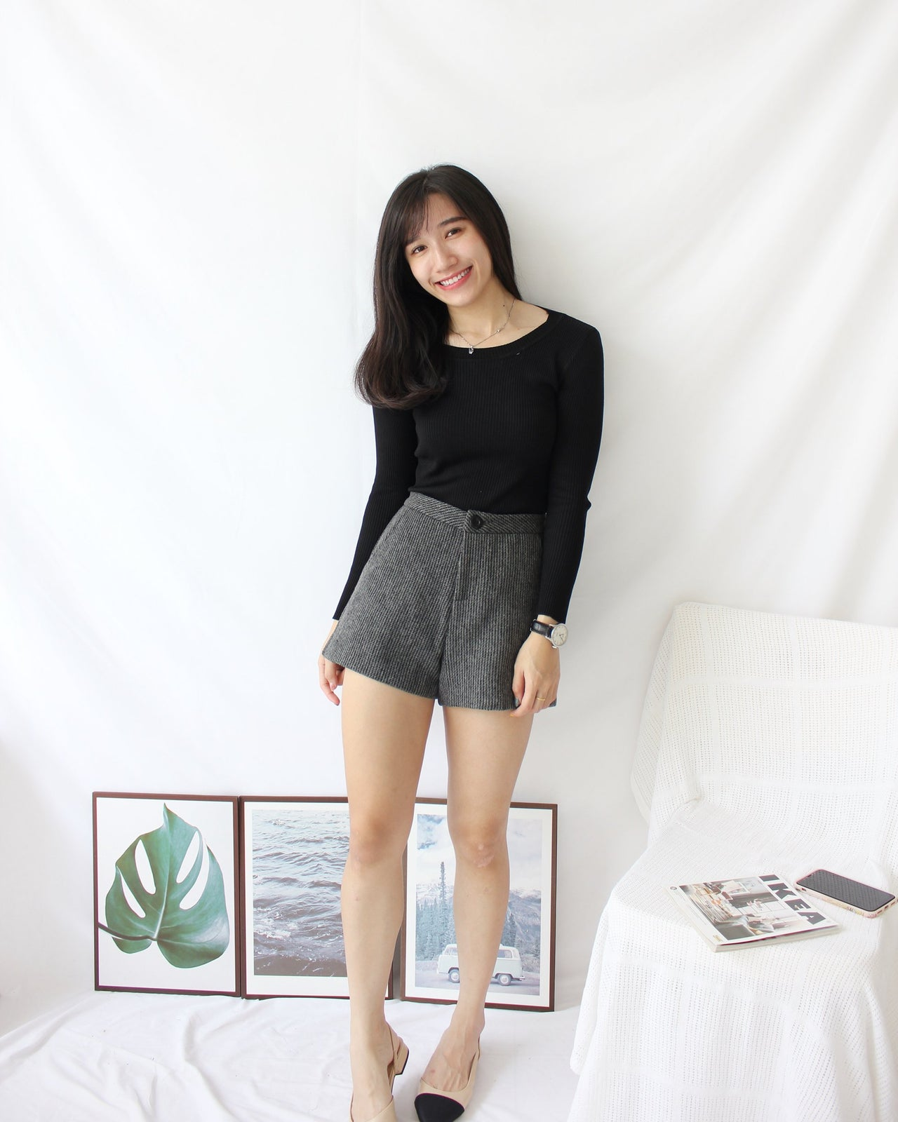 Rib Long Sleeve Top - LovelyMadness Clothing Online Fashion Malaysia