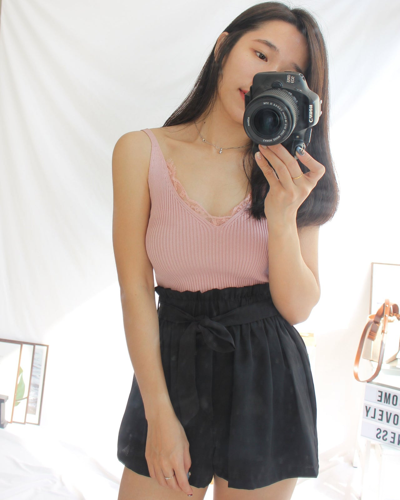 Knitted Lacey Tank - LovelyMadness Clothing Online Fashion Malaysia