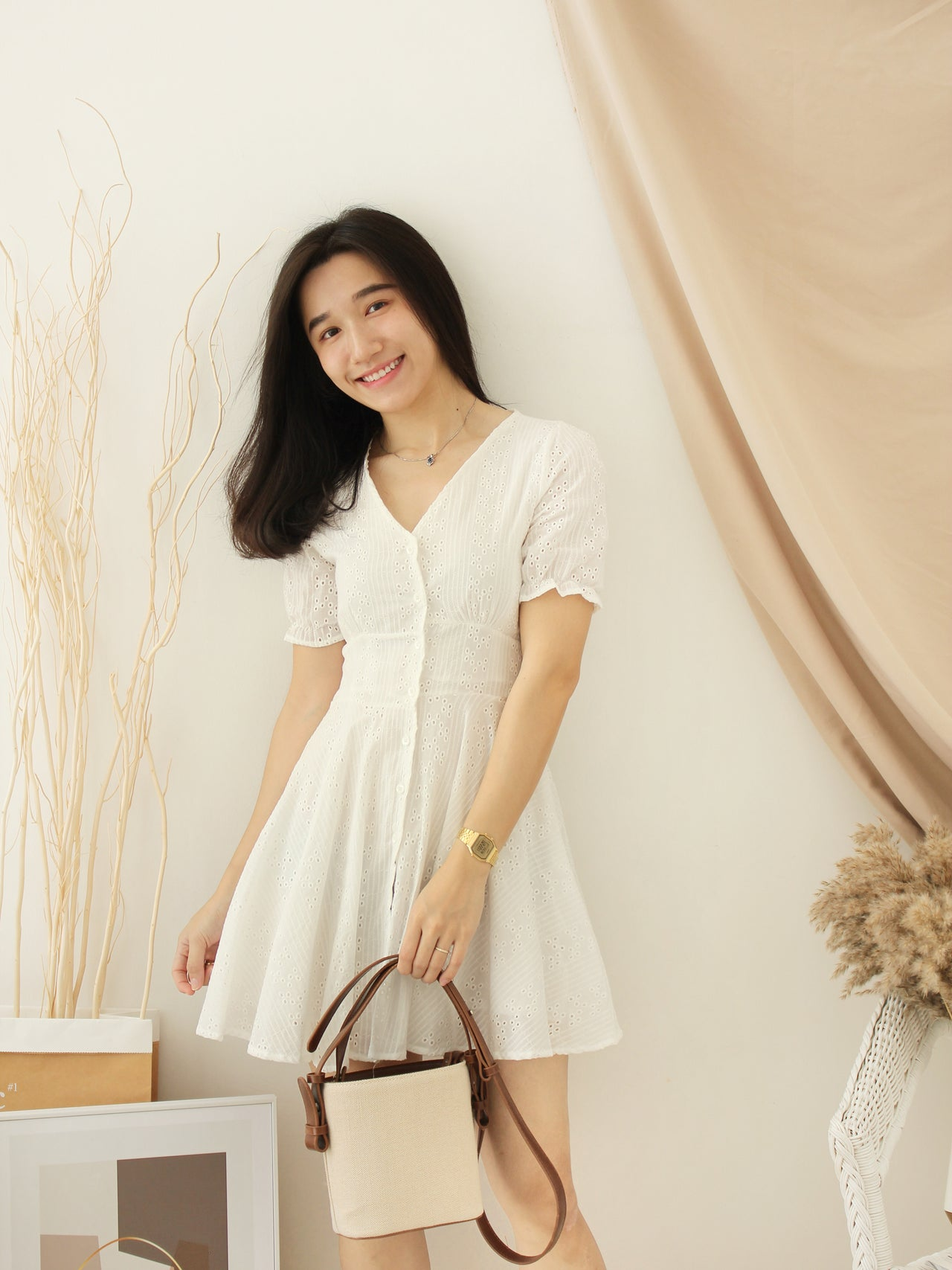 Crochet White Dress - LovelyMadness Clothing Online Fashion Malaysia