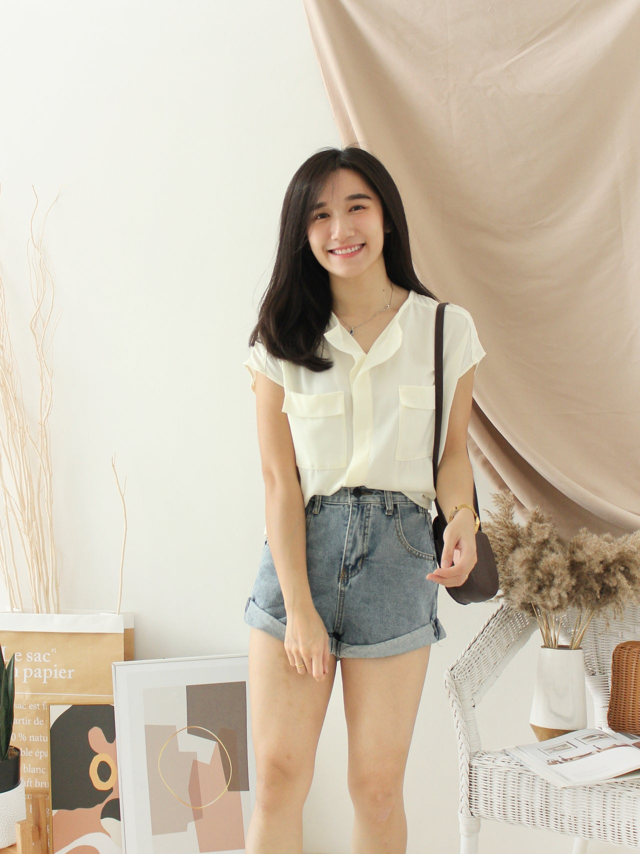 Japan Pocket Blouse