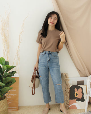Button Square Neck Top - LovelyMadness Clothing Online Fashion Malaysia