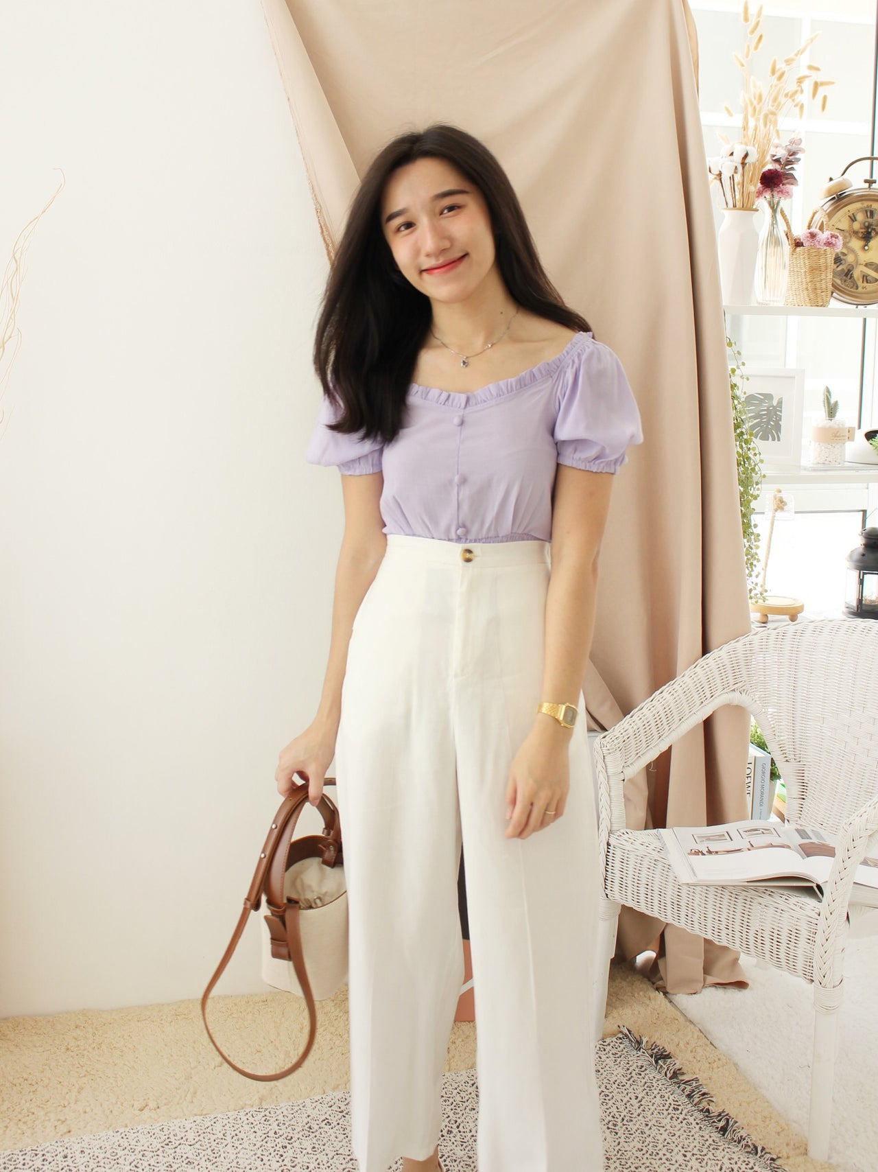 EMI Button Square Top