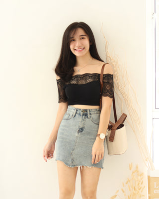 Lace Off Shoulder - LovelyMadness Clothing Online Fashion Malaysia