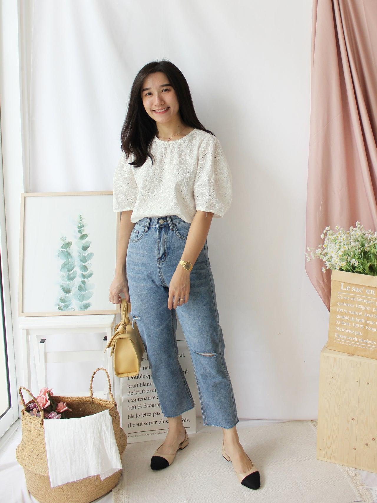 NORA Korean Crochet Top