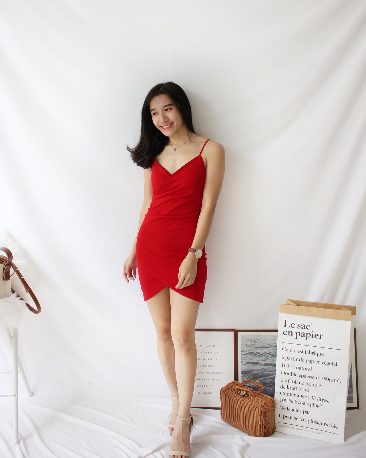 Deep V Bodycon Dress v2 - LovelyMadness Clothing Online Fashion Malaysia