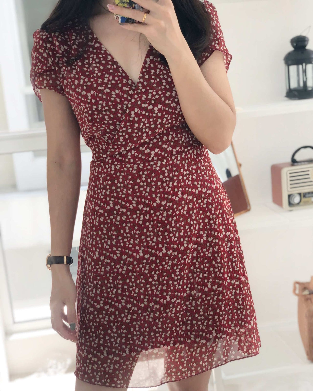 Daisy Maroon Floral Dress - Lovely Madness