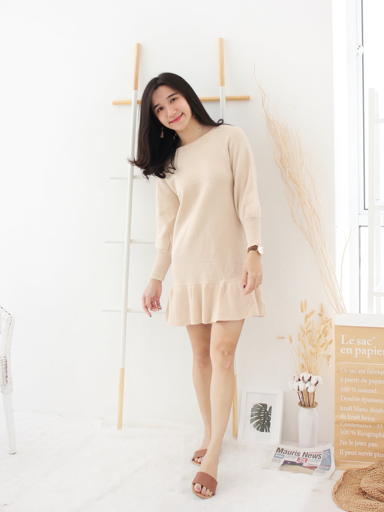 Quennie Knitted Dress - LovelyMadness Clothing Online Fashion Malaysia