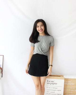 Cotton Knot Rib Top - LovelyMadness Clothing Online Fashion Malaysia