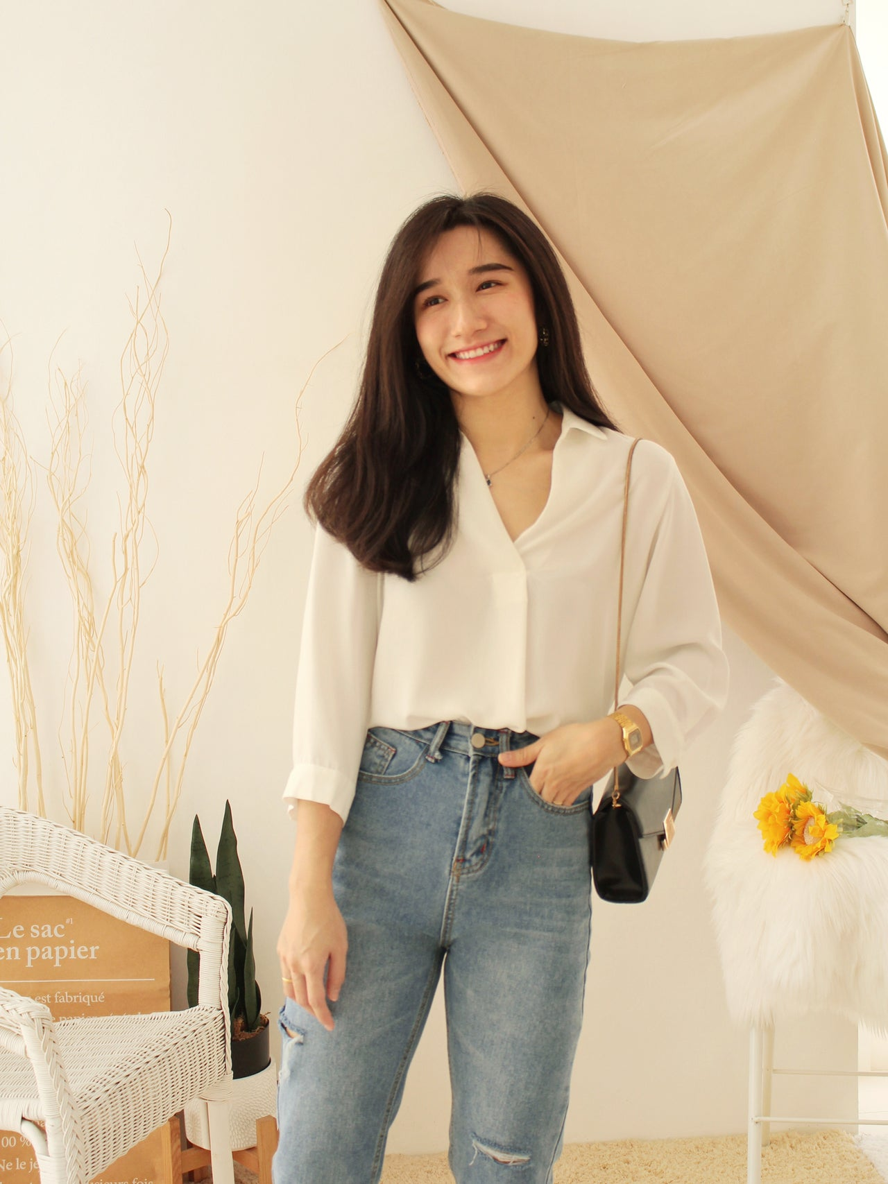 JAPAN PERSODEA COLLAR BLOUSE
