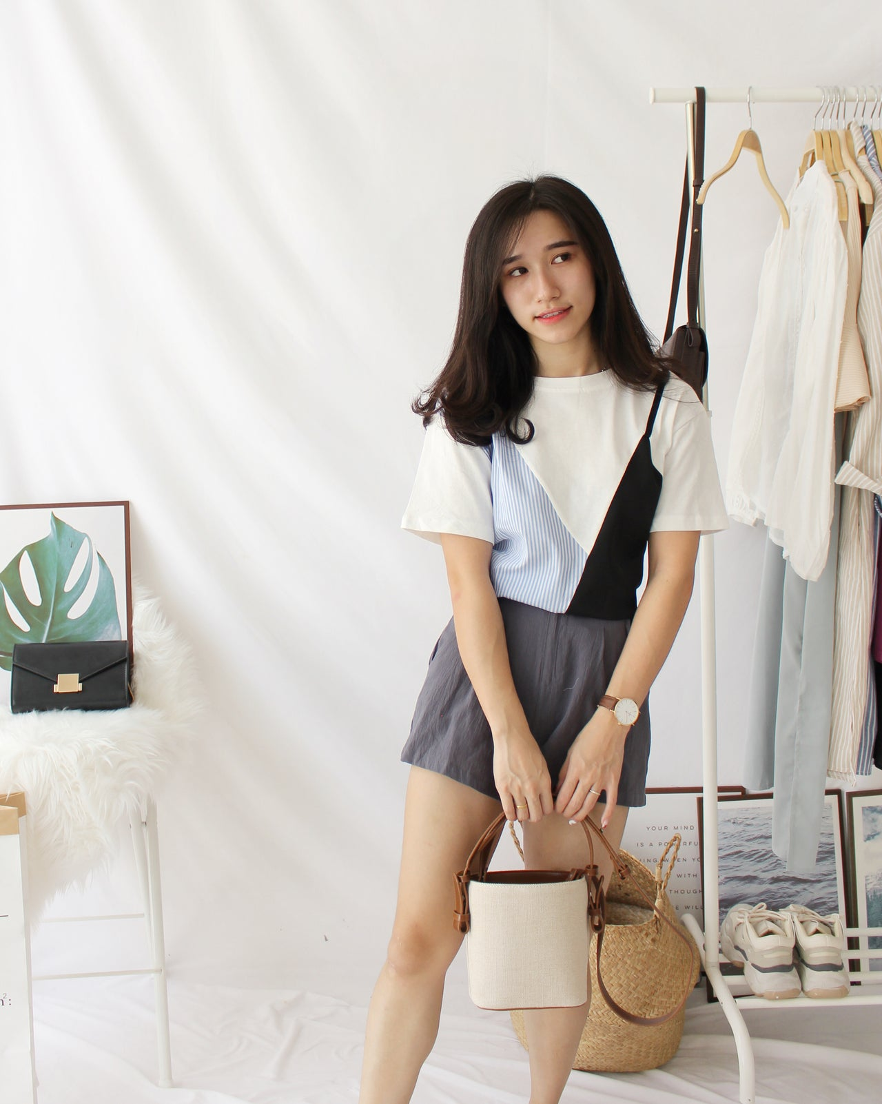 Chic Spliced Top - LovelyMadness Clothing Online Fashion Malaysia