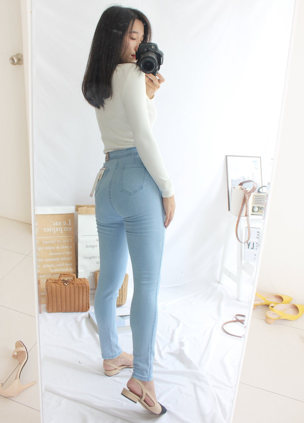 High Waist Skinny Jeans - Lovely Madness