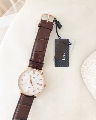EYKI Leather Watch 42MM - LovelyMadness Clothing Online Fashion Malaysia