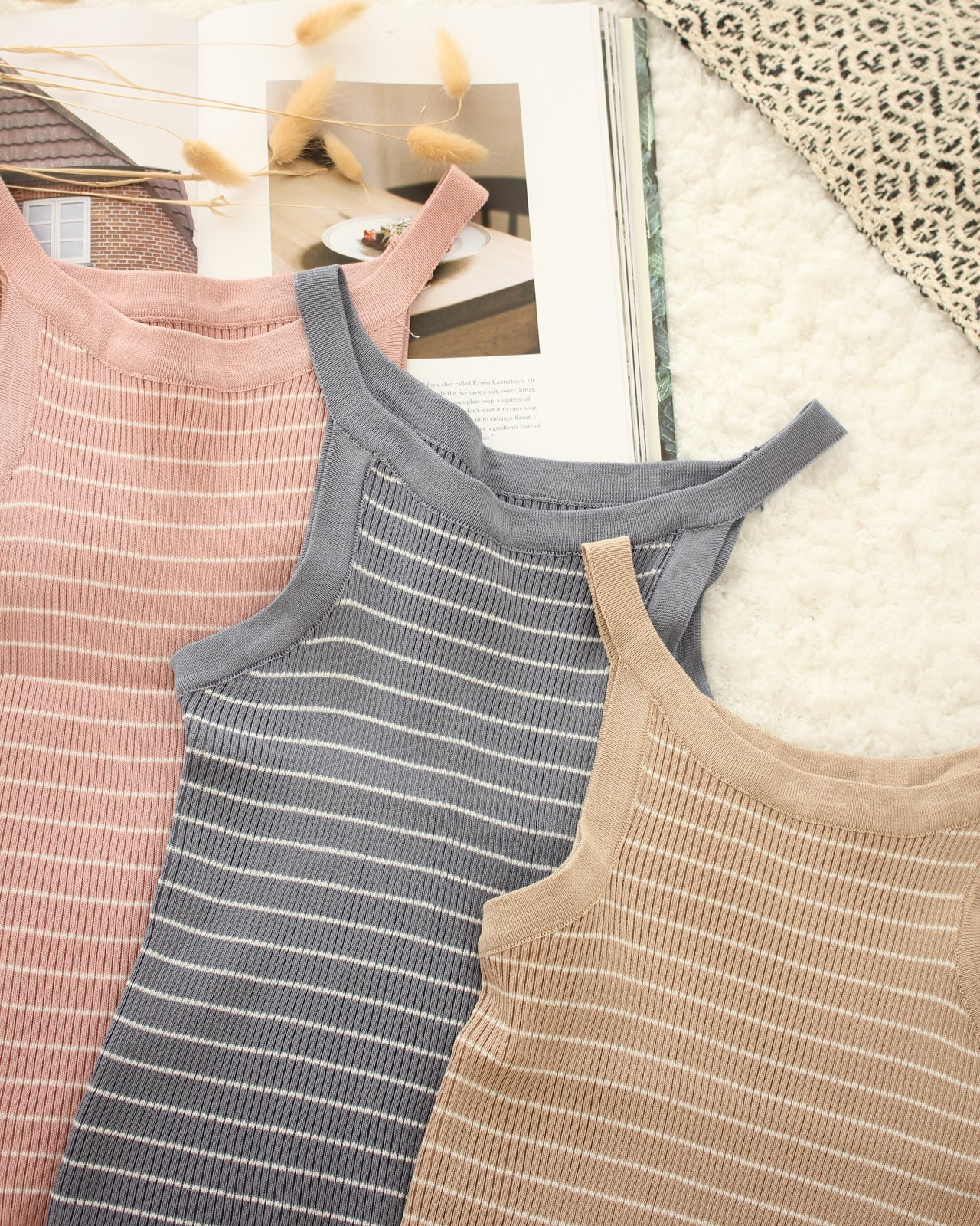 Rib Stripe Tank - LovelyMadness Clothing Online Fashion Malaysia