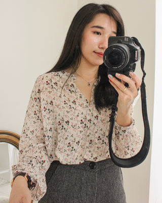 Floral Sheer Blouse - Lovely Madness
