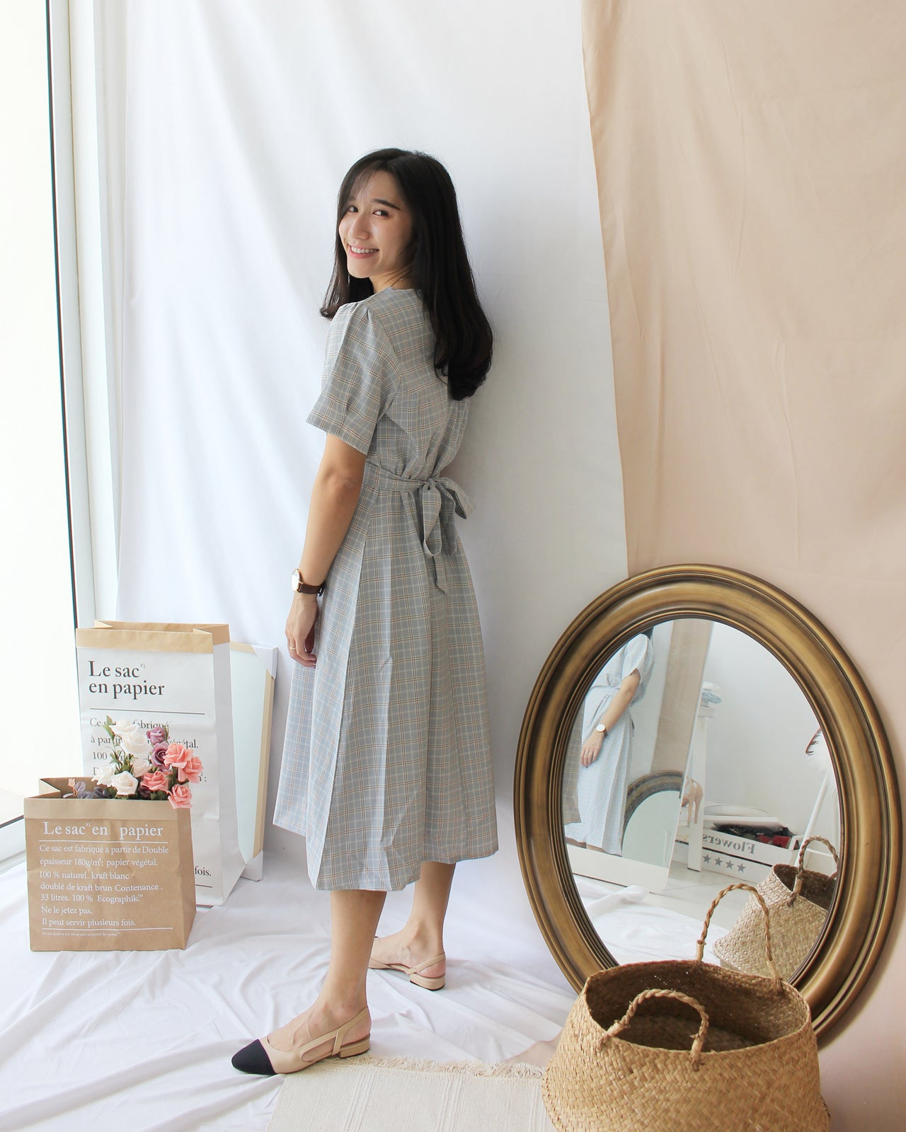 Korea Plaid Dress - LovelyMadness Clothing Online Fashion Malaysia