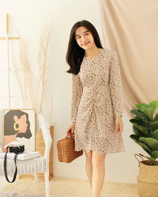 AYLINI Korean Floral Dress