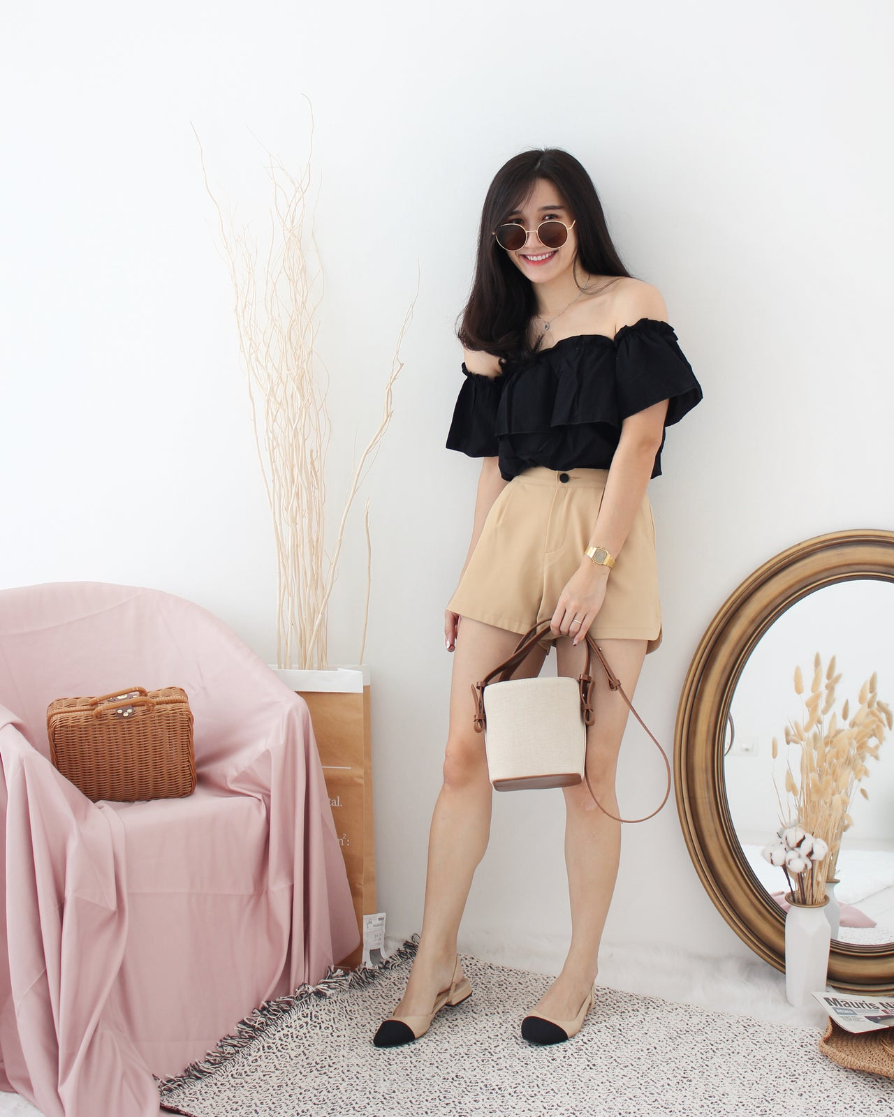 Ruffle Off Shoulder - LovelyMadness Clothing Online Fashion Malaysia